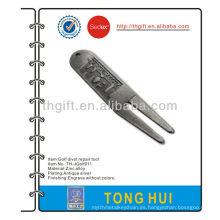 Herramienta promocional de reparación de divot de golf de aleación de zinc