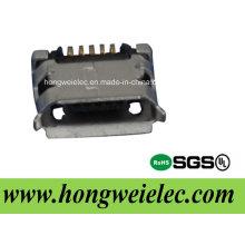 B Typ SMT weiblicher 5pin Mikro-USB-Verbindungsstück
