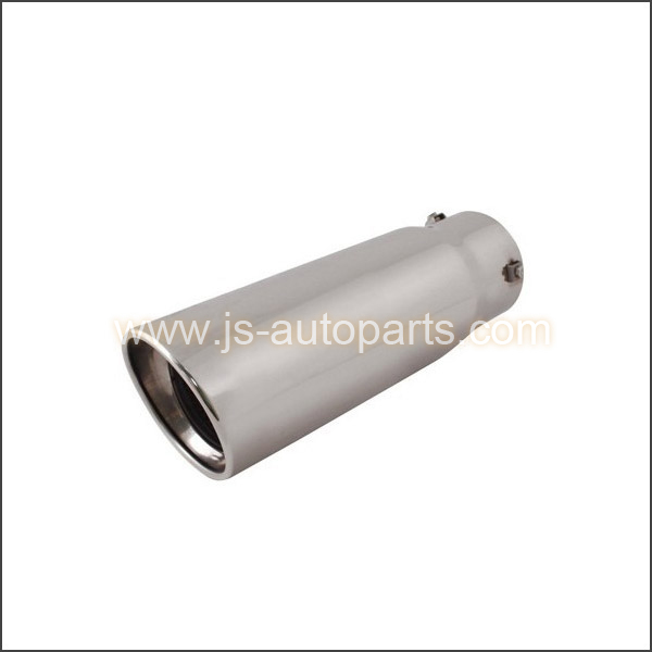 INLET 3.75 OUTLET 4.5 SLANT CUT RESONATED BOLT-ON  EXHAUST TIP