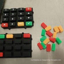 Teclado con teclado de goma de silicona de doble color