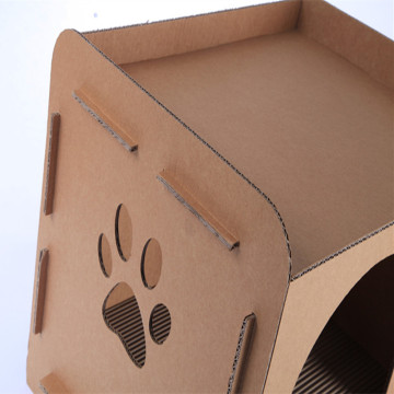 Corrugated Paper Cat Bed House