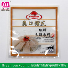 Kundenspezifischer Entwurf akzeptierte lamellierte materielle transparente Plastikverpackungsbeutel für Tiefkühlkost