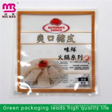 Принятая нестандартная конструкция прокатанный материал прозрачный пластиковый мешок упаковки для замороженных продуктов