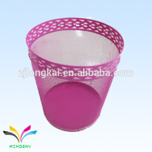 Office Stationery 3 Size Round Mesh Wire Metal Paper Waste Bin / Lixeira