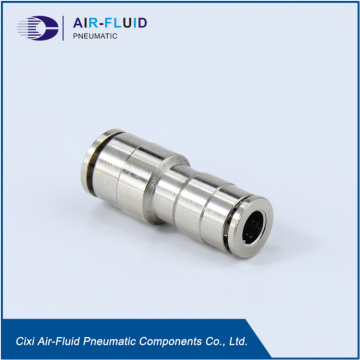 Air-Fluid Brass Nickel-Plated Reducing Straight Connector