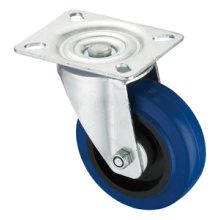 Middle Duty Series Caster - Swivel - Blue Elastic Rubber (roller bearing)