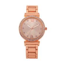 Japan movt quartz watch stainless steel back valentine gift luxury diamond Lady Watch