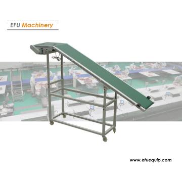 Inclined belt conveyor system