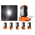 Magnetbasis & Hängehaken, batteriebetriebenes 5000K Tageslicht, 200 Lumen, tragbares LED-Arbeitslicht, Mehrzweck-COB-Taschenlampe