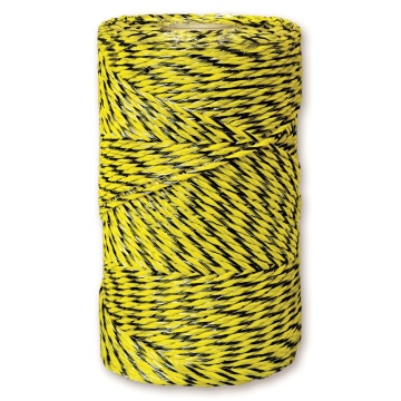 yellow/black electric polywire for farm fence