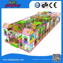 Equipamento Indoor do fornecedor do campo de jogos do divertimento de Kidsplayplay com campo de jogos macio