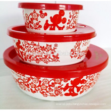 chinese new years decal storage bowl with PE lid