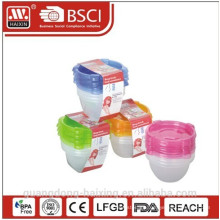 Plastic Microwave Food Container 0.89L(4pcs)