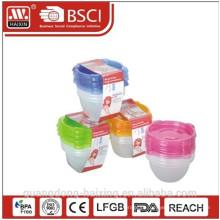 Comida de microondas plástico recipiente 0.89L(4pcs)