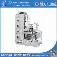 Machine d'impression de Flexo automatique de film plastique / sacs