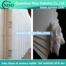Materias primas americanas de la pulpa de la pelusa del faro para el pañal del bebé y la servilleta sanitaria