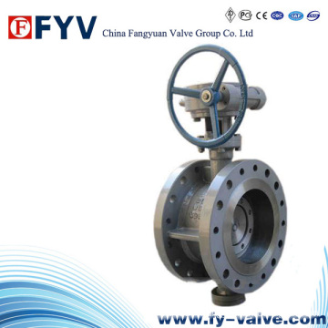 API6d Turbine Double Flanged Butterfly Valve