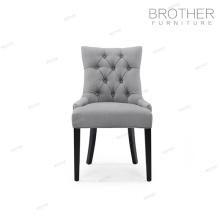 Nouveau modèle français accent haut retour tissu salle à manger chaises pour salle de livinig