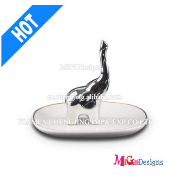 Ceramic Hot Seller Elephant Jewelry Ring Holder