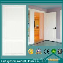 Puerta de doble panel MDF / HDF imprimado blanco para proyecto hotelero