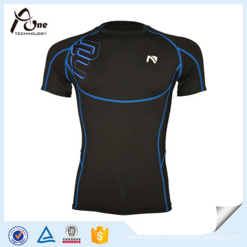 Custom Men′s Quick Dry Fitness Sports Wear Compression Basketball T-Shirt
