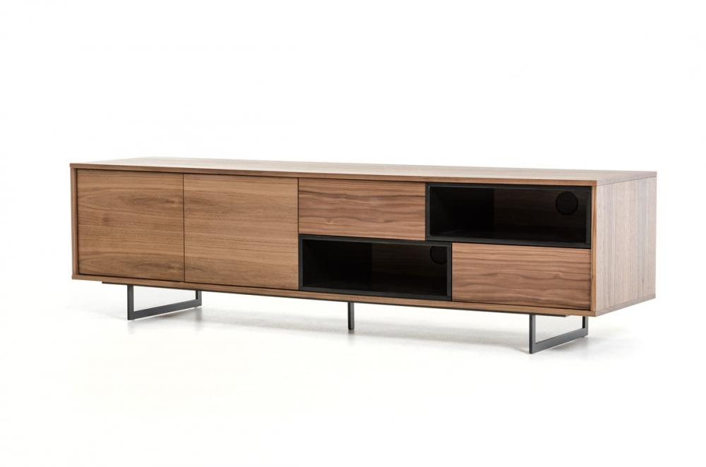Modern Walnut wood veneer TV Stand