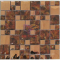 Rose Gold Mirror Face Stainless Steel Mix Crystal Mosaic (CFM846)