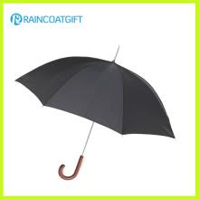 Paraguas recto de madera anti viento de alta calidad