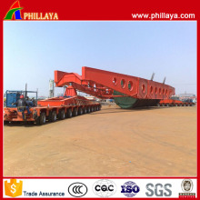 Heavy Engineering Transporter Multi Hydraulic Swing Axles Modular Trailer