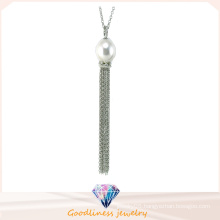 High Quality Fashion Jewelry for Woman 925 Sterling Silver Jewelry Cubic Zirconic & Shell Pearl Necklace (N6664)
