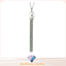 Jóias de alta qualidade para a mulher 925 Sterling Silver Jewelry Cubic Zirconic & Pearl Pearl Necklace (N6664)