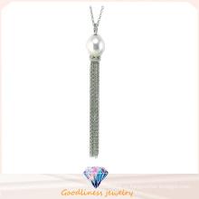Ювелирные изделия способа высокого качества для ожерелья перлы ювелирных изделий стерлингового серебра женщины 925 кубического (N6664)