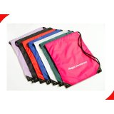 Waterproof Red Music Player Handy Custom Drawstring Bags With Heat Transfer Printing
