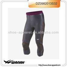 Novo design de absorção de suor dri-fit compressão homens correndo calças 2013