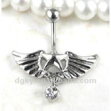 Anneaux de ventre chirurgicaux en acier inoxydable 316L, bijoux de corps de chouette