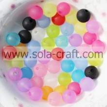 Shinny Jewelry Acrylic Matte Round Smooth Pony 8MM Mixed Colors Beads