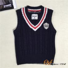 Gilet tricoté en laine pour garçons