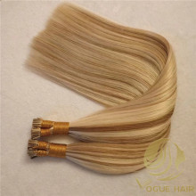 Remy cuticle I tip hair extensions