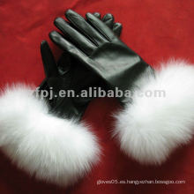 Moda del sexo elegancia estilos guantes de cuero