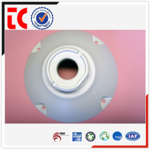 white custom made aluminum camera cover die casting