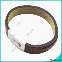 Braunes Echtlederarmband (LB)