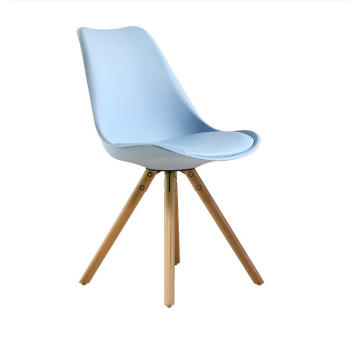 Free Sample China supplier leather cushion wood leg commercial tulip chair pp