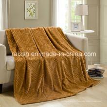 Couverture chaude de couverture de couverture de vison d'or simple ou double
