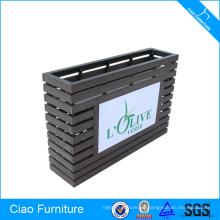 Maceta rectangular del bloque de madera de los muebles con la iluminación del LED