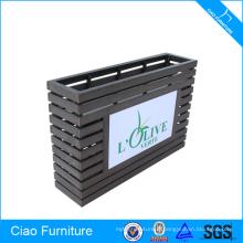 Pot rectangulaire de fleur de bloc de meubles en bois avec l'éclairage de LED