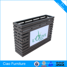 Wooden Furniture Rectangular Block Flower Pot With LED Lighting