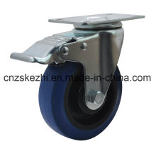 Blue Rubber Caster Wheel