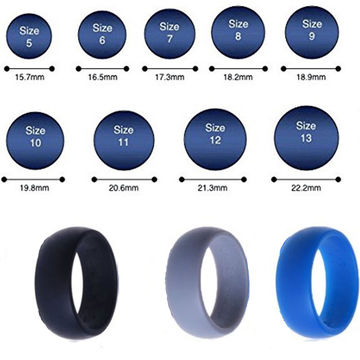Custom Mens Womens Wedding Ring Rubber Silicone Band