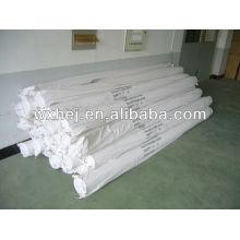 Tecido de folha plana branca de poliéster 100 escovado mircofiber