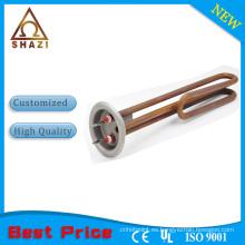 Elemento de calentamiento tubular de acero inoxidable de brida